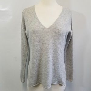Babaton grey Erin V-Neck sweater